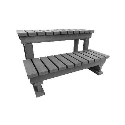 escalier imitation bois gris spa jacuzzi interieur exterieur